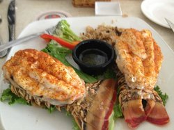 Dinner at Keegan's Seafood Grille in Indian Rock, a 10 minute drive south from Sheraton