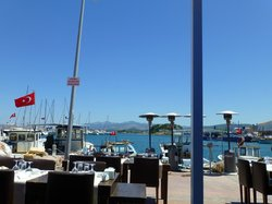 View of Urla Marina from table