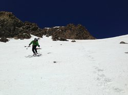 Backcountry skiing in the San Juan Mountains.