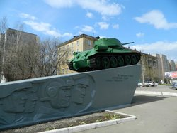 Tank T-34 Monument to the Heroic Work of Kirov residents