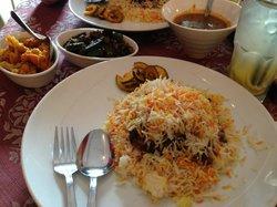The obligatory mutton beryani...