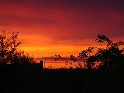 The sunset very beautiful