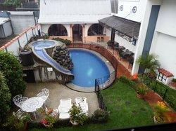 Pool, frühstücksgebäude