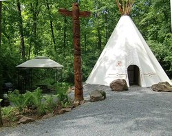 If you want a fun unique vacation rental just check out this Tipi