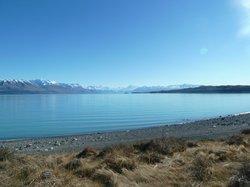 Lake Pukaki: late July 2013. What a morning view...