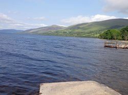 View of Loch Tay from hotel jetty