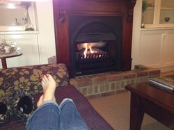 Relexing by the fire
