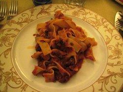 Homemade pasta with wild boar (delicious!)