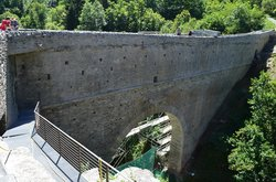 ‪The Roman Aqueduct-Bridge of Pont d'Ael‬