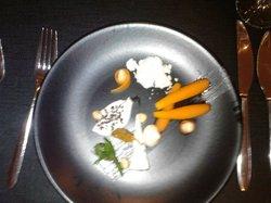 Glazed carrots, Crozier Blue cheese crème...
