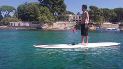 ‪Paddling in Antibes‬