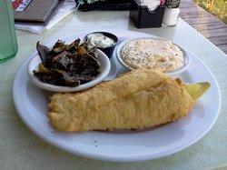 Fish dinner- skip the collards