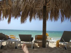 Beach chair view - catching some shade