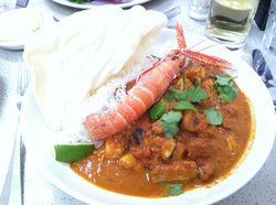 Sumptuous fish curry