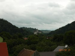 view from the vindow to a Bran Castle