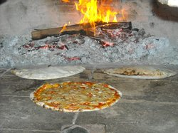 Our wooden heated oven for pizza