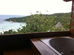 view from Jacuzzi bath balcony