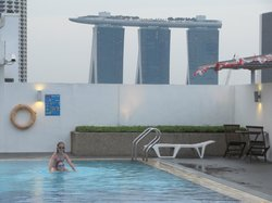 View of MBS from the roof-top pool