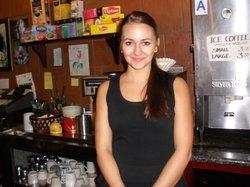 A friendly waitress