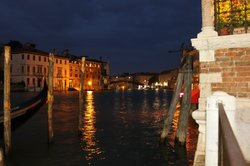 Evening Canal View from Patio at Palazzo Stern
