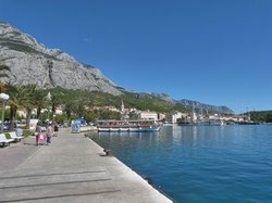 Promenade that streaches along Makarska town
