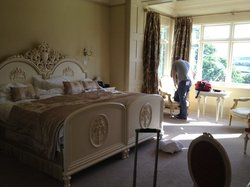Our Lovely room! HUGE Bed!