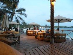 The restaurant on (above) the beach