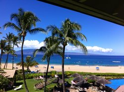 Room with a view at the Sheraton Maui