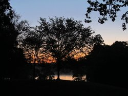 Sunrise over Lake Fairfax from campground