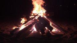 Bonfire on the beach... thank you Cerritos Surf Colony!