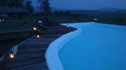 the pool...