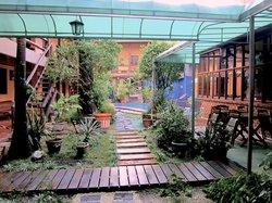 Le jardin et la petite piscine