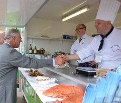 thank you to Simon Kench for this photo of the Wrygarth cooking for Prince Charles in July 2013