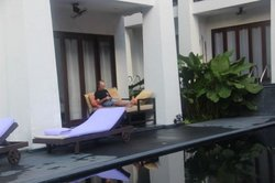 Ground floor rooms have direct access to the pools...