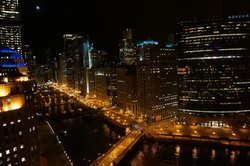 View from Holiday Inn Chicago-Mart Plaza