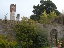 In the grounds of Ruthin Castle