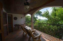 Downstairs balcony overlooking ocean
