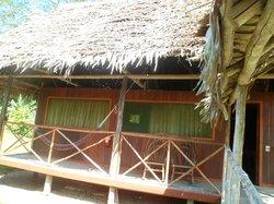 Parte delantera de un bungalow