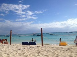 Beautful white sand beach and crystal clear waters