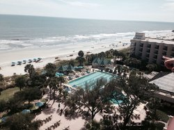Balcony view from an oceanfront room on the 9th floor