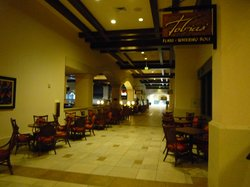 Some of the restaurants just off the main lobby