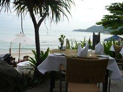 Restaurant direkt vor dem Strand