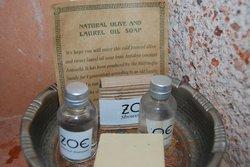 Natural olive oil soaps