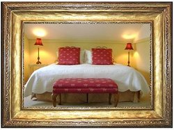 King bed in the Wilson Room
