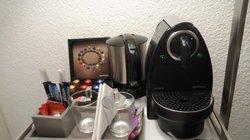 Serviço de quarto com café