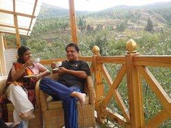 at balcony