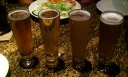 Flight of in-house craft beer