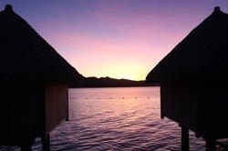 Pink Sunset on The St. Regis Bora Bora