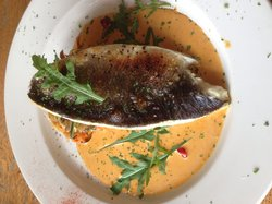 Seabass with grilled vegetables...