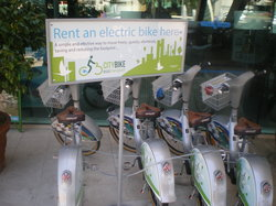Bikes for rent outside
